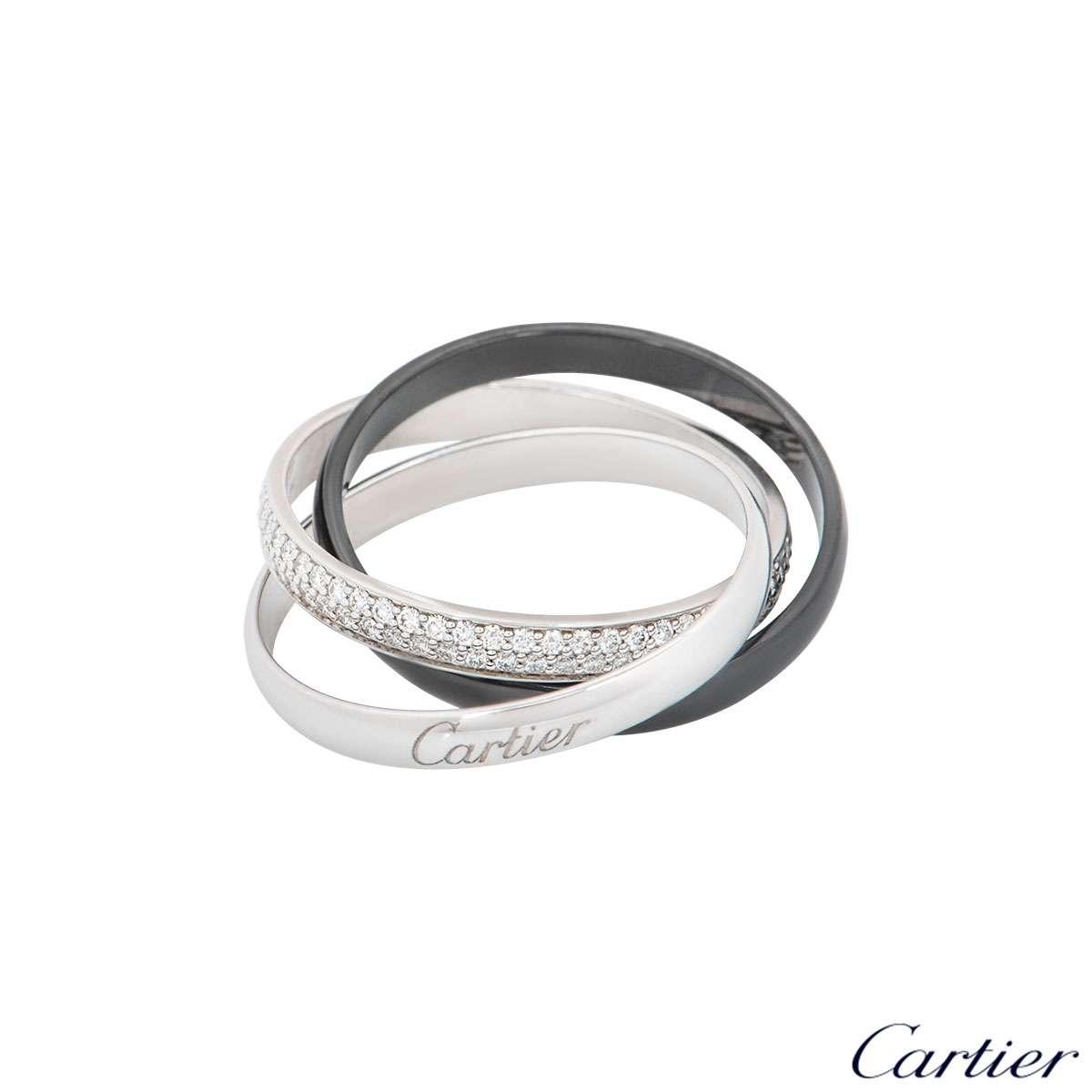 Cartier Trinity de Cartier Ring 18k White Gold and Ceramic B4095500